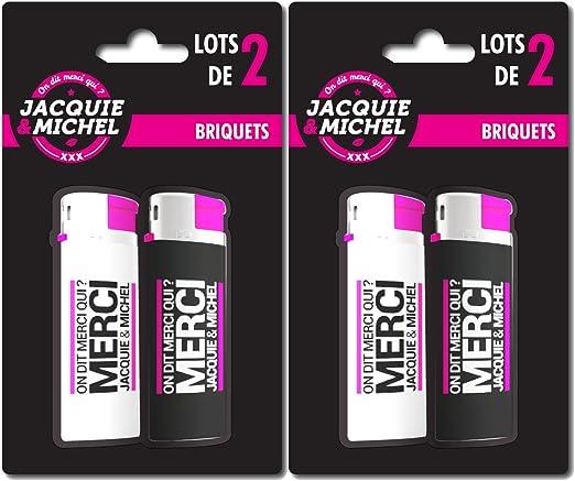 Mechero Jacquie y Michel – Pack de 4 piezas: Amazon.es: Hogar