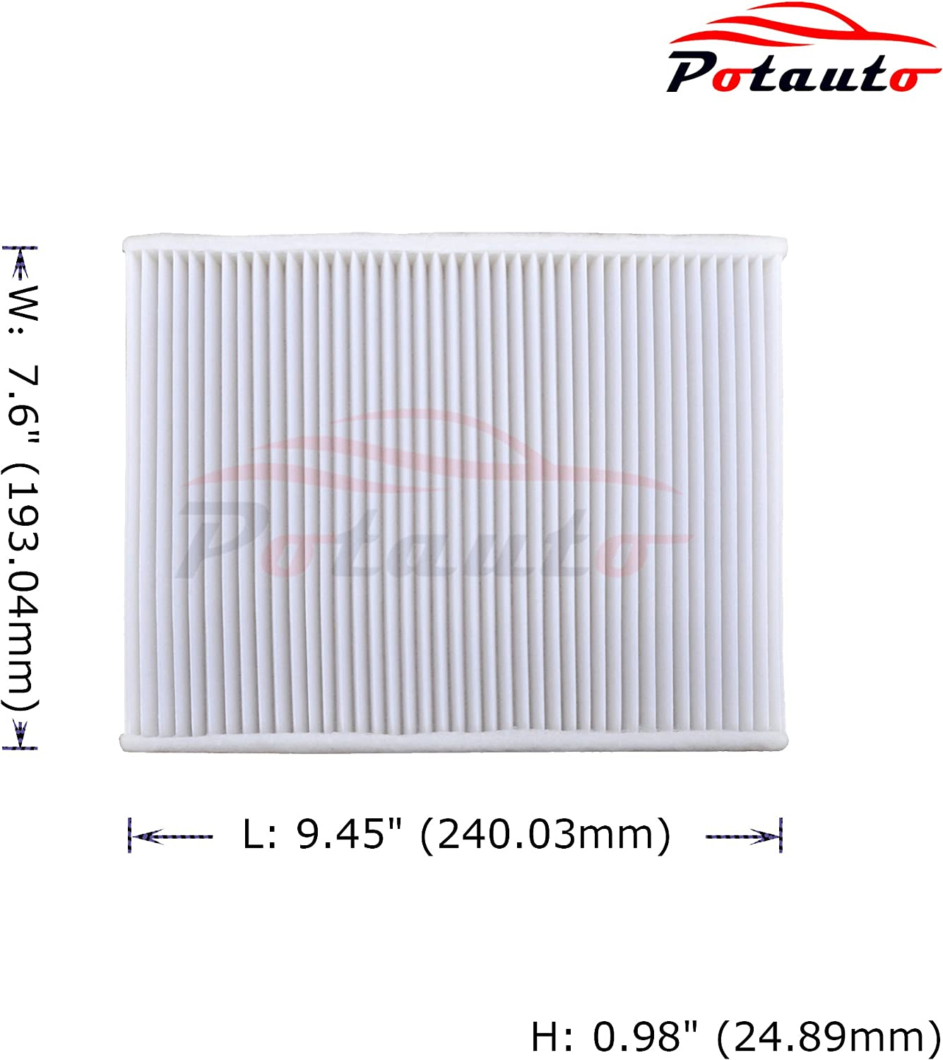 Standard White Replacement High Performance Car Cabin Air Filter for FORD CF11670 Ecosport POTAUTO MAP 1042W Fiesta