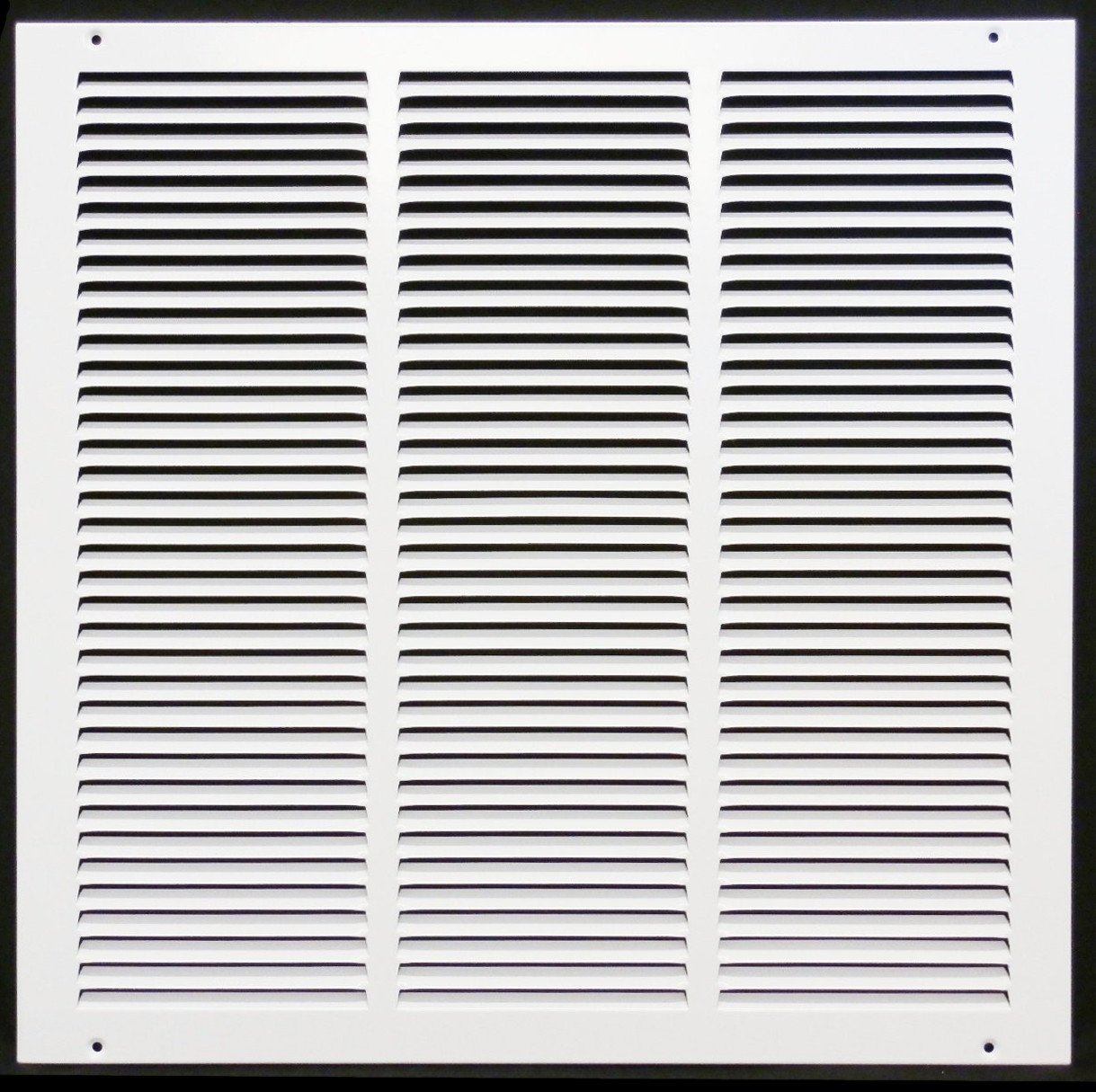 16''w X 16''h Steel Return Air Grilles - Sidewall and Cieling - HVAC DUCT COVER - White [Outer Dimensions: 17.75''w X 17.75''h]