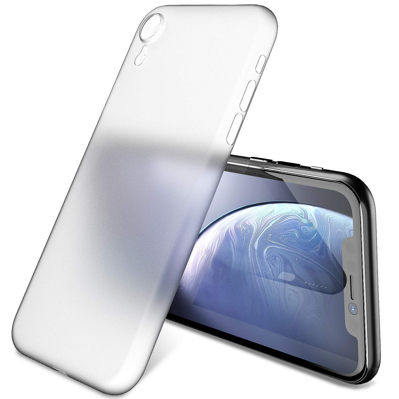 TOZO Funda para iPhone XR, 6,1 Inch (2018) PP [0,35mm] Ultra Delgada Más Fina del Mundo Proteger El Estuche Rígido [Semi Transparente] Ligero Protective ...