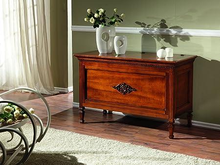 Zenzero Shop Truhe Aus Holz Farbe Bassano Mit Fries Amazon De