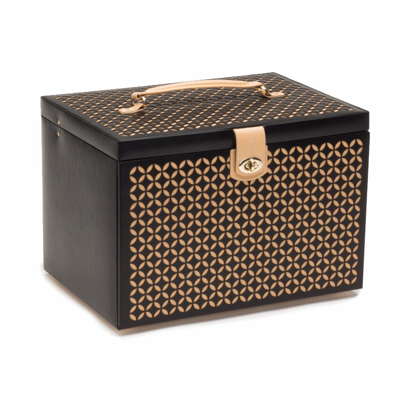 WOLF 301602 Chloe Extra Large Jewelry Box, Black