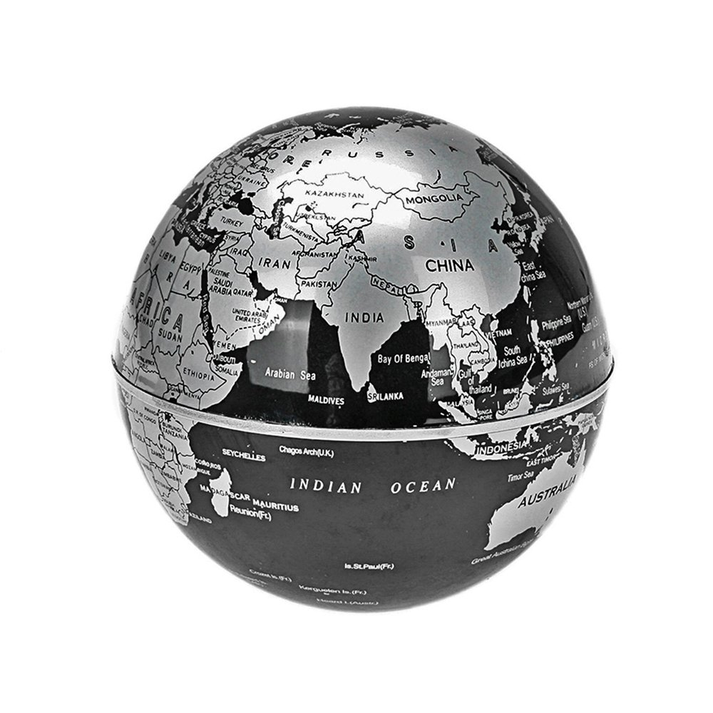 Amazon suspended world map globe cestore 360 degree magnetic amazon suspended world map globe cestore 360 degree magnetic levitation floating rotating in midair anti gravity globe with multicolor led lights for gumiabroncs Images