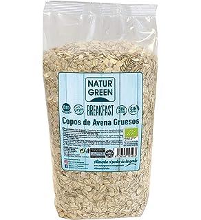 NaturGreen Copos de Avena Gruesos Sin Gluten Bio 1Kg - Pack de 6 unidades de 1