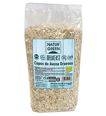 NaturGReen Copos de Avena Gruesos Sin Gluten Bio 1 Kg ...