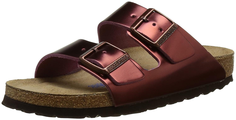 Birkenstock Arizona - Tacones Mujer 40 EU|Rouge (Metallic Tourmaline Soft Footbed)