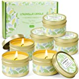 LA BELLEFÉE Citronella Candles, Natural Citronella Soy Wax Candles, Travel Tin Candle Set, Lemongrass Candles for Camping, Ba