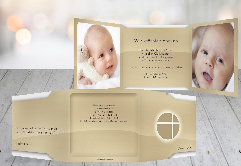 Kartenparadies Dankeskarte Taufe Taufe Dankeskarte Spiegelung, hochwertige Danksagung für Taufgeschenke inklusive Umschläge   10 Karten - (Format  145x145 mm) Farbe  BeigeOrange B01NAYZK3S | Sale Düsseldorf  | Shopping Online  | Treten Sie ein