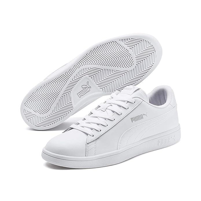 Puma Smash V2 L Sneaker Damen Herren Unisex komplett Weiß