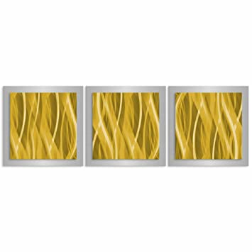 Amazon.com: Gold Wall Art \'Gold Essence\' - 38x12 in. - Gold Color ...