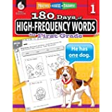 180 Days of High-Frequency Words for First Grade - Learn to Read First Grade Workbook - Improves Sight Words Recognition and