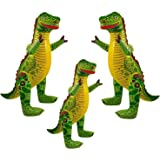 Family Pack of Inflatable Dinosaurs Kids Children Party Decoration Kids Children Fancy Dress Prop For Dinosaur Themed Party, Birthdays (3 Inflatable Dinosuar's)