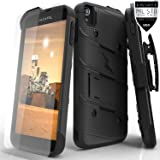 Alcatel One Touch Idol 3 5.5in Case, Zizo Bolt Cover [.33mm 9H Tempered Glass Screen Protector] Included [Military Grade] Armor Case Kickstand