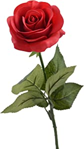"Louis Garden 17"" Artificial Silk Flowers Fake Rose (1, Red)"