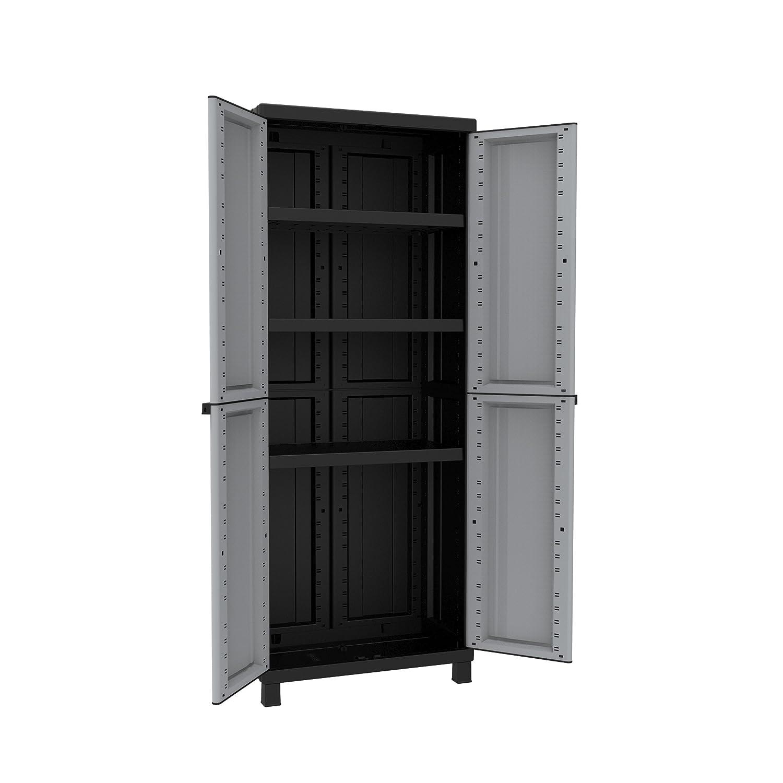 with Shelves 68/x 39/x 170/cm Terry Twist Black 2680/Tall Wardrobe Grey//Taupe Plastic