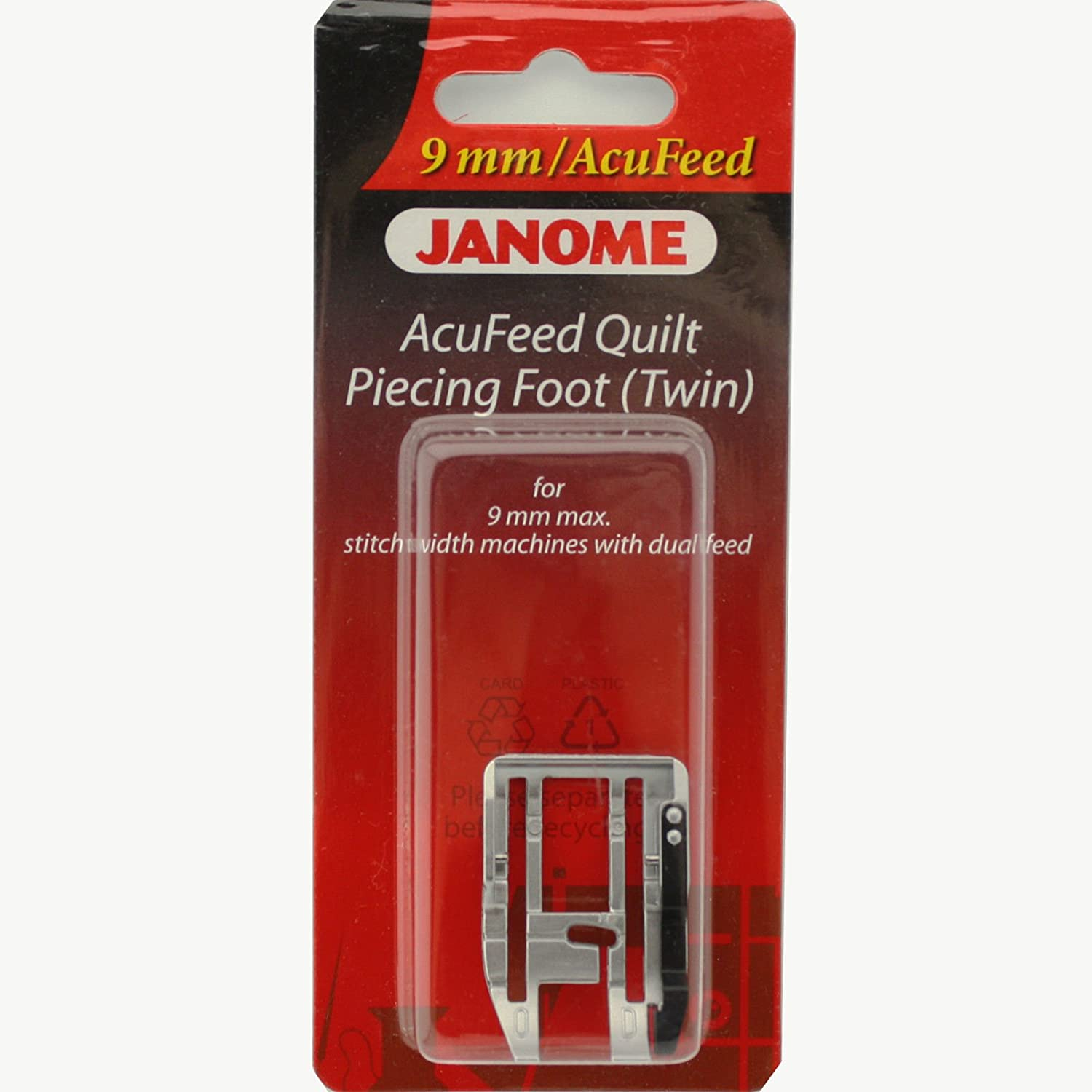 For #202125004 9mm max with Dual Feed Twin Janome AcuFeed Quilt Piecing Foot