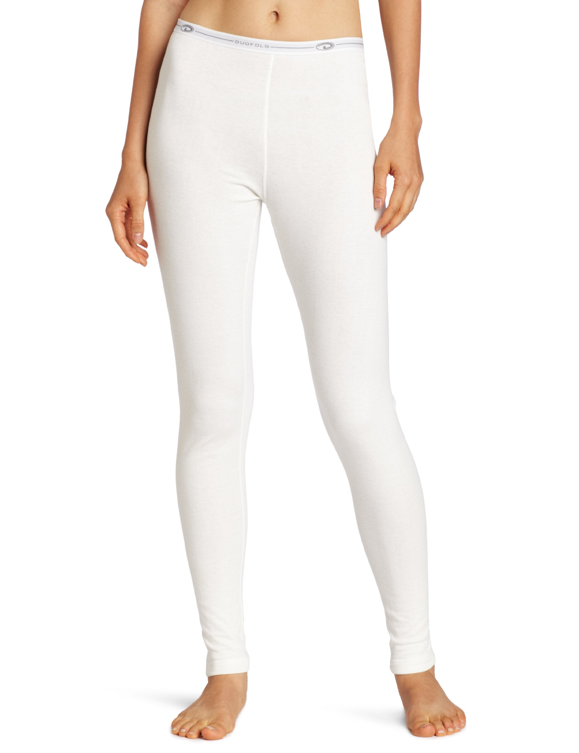 Duofold Women's Mid Weight Double Layer Thermal Leggings, Winter White, Large