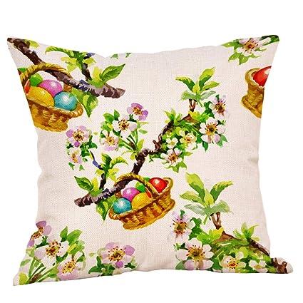 Amazon.com: Yamart Easter Rabbit Egg Home Decor Pillow ...