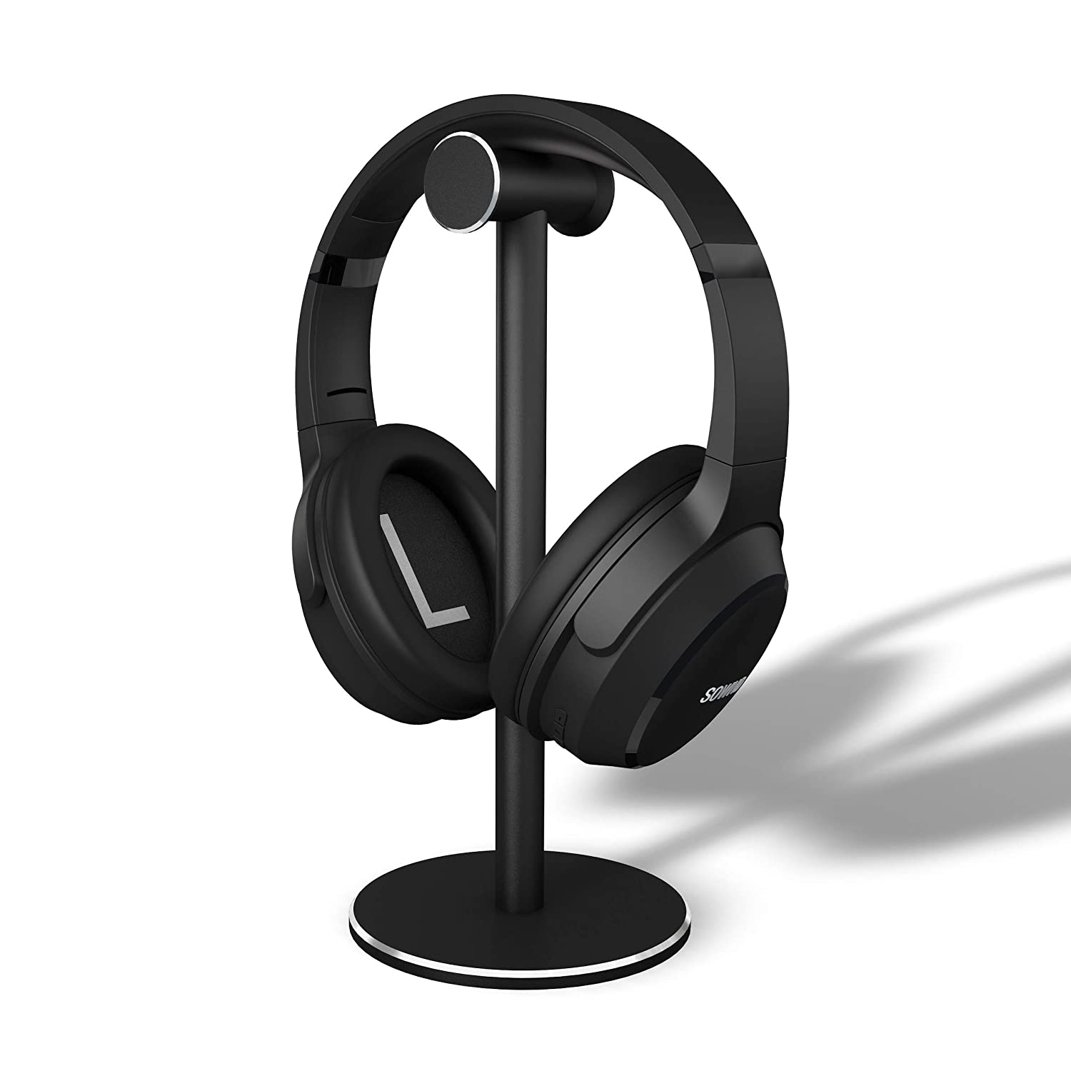 SOWND Headphone Stand Headset Stand Full Aluminum Construction Non-Slip Silicone Pad Gaming Headset Holder-Black M H Audio Inc Headphone holder-001
