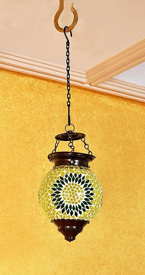 Amazon.com: Turco Hanging mosaico lámpara colgante de techo ...