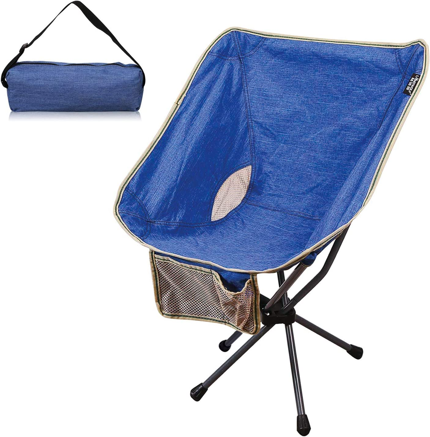 Galsoar Camping Chairs, Outdoor Portable Backpacking Folding Chairs with Carry Bag, Heavy Duty 300 lbs Capacity, for BBQ, Beach, Travel, Picnic, Hiking, Fishing