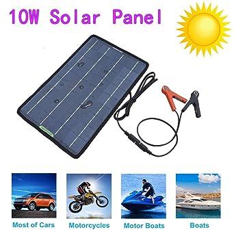 Eco-Worthy - Cargador solar para coche, 12 V, 10 W, con ...