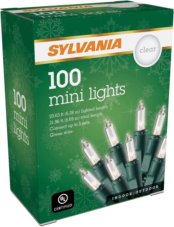 SYLVANIA Mini Christmas lights, Clear