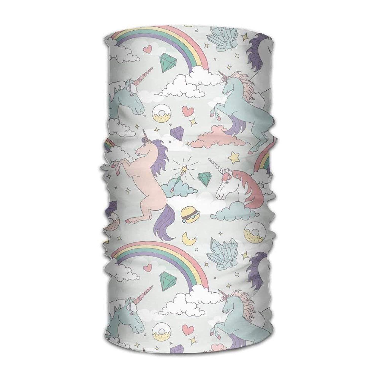 Licorne Donut Rainbow-01 Multifonctionnel Chapellerie Magique 12-en-1 Hommes \u0026 Femmes Tube /Écharpe Facemask Bandeaux Cou Gaiter Bandana Casque Balaclava Casque Courir En Plein Air Yoga Travailler