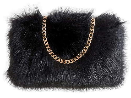 Amazon.com: FHQHTH Bolso de piel sintética Fuzzy Bolsas de ...