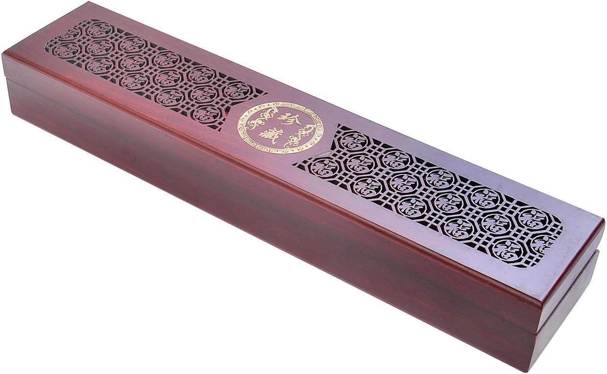 Quantum Abacus Deluxe: Set Palillos Chinos Hechos de Madera, Madera de sándalo Rojo con Adornos metálicos (2 Pares de Palillos), Viene con Soporte, diseño Prosperidad Estuche de Madera, HB-S2-M02: Amazon.es: Hogar