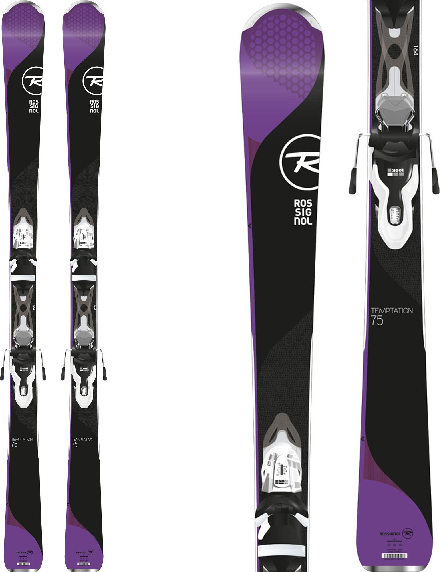 Rossignol 2018 Temptation 75 Women's Skis w/Xpress Bindings