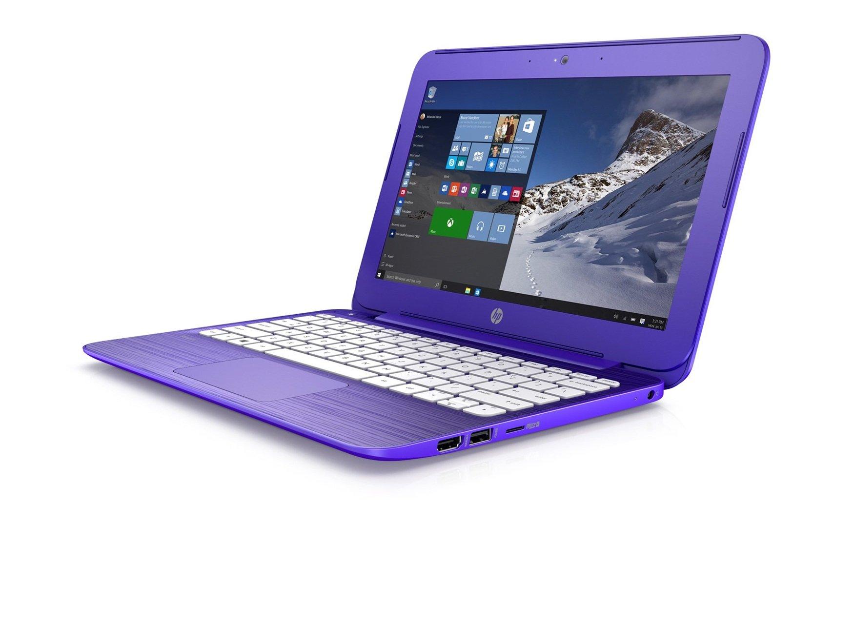 2016 HP Stream 11 11.6 inch Laptop (Intel Celeron N3050 1.6GHz, 2GB RAM, 32GB Solid State Drive, Windows 10 Home) Purple (Certified Refurbished)