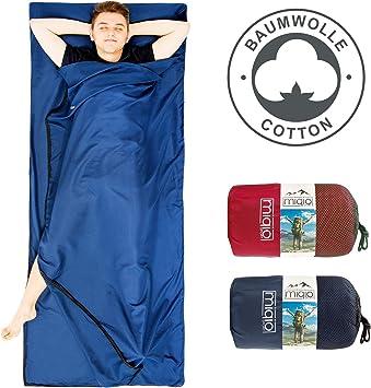 MIQIO 2 en 1 forro de algodón para saco de dormir y ligero tamaño ...