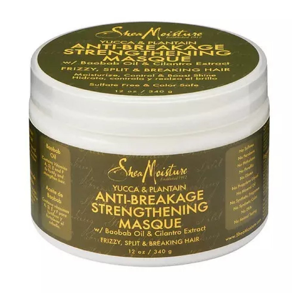 Shea Moisture Organic Yucca & Plantain Anti-Breakage Masque,12 oz