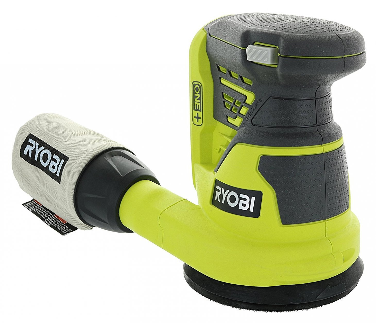 Ryobi P411 One+ 18 Volt 5 Inch Cordless Battery Operated Random Orbit Power Sander (Battery Not Included / Power Tool Only) by Ryobi