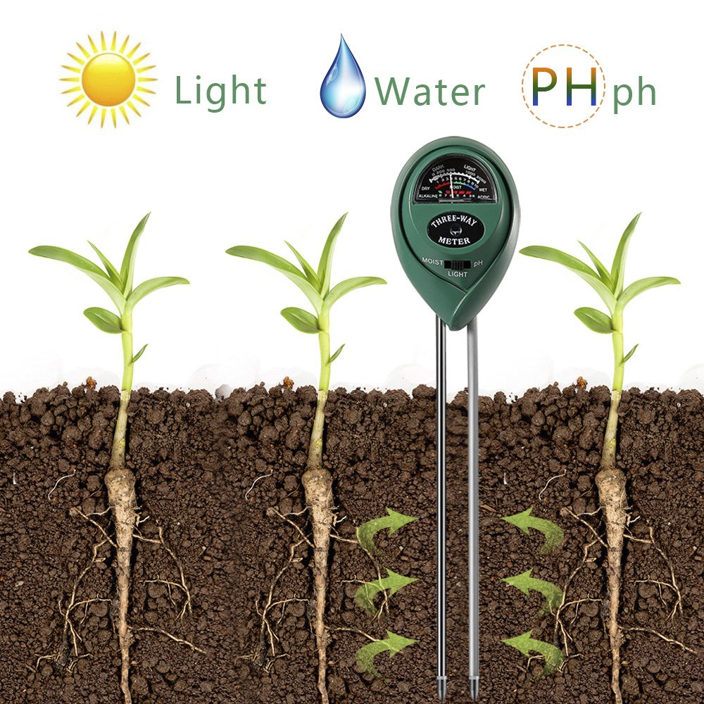 3 in 1 Soil Tester for PH, Light & Moisture, Plant Test Kit for Home and Garden, Farm, Lawn, Indoor & Outdoor, Easy Read Indicator (No Battery Needed) by FARINIDO (Image #7)