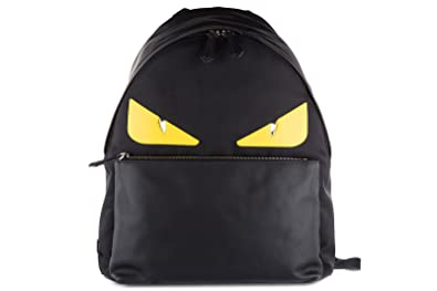d323b26d2d13 Amazon.com  Fendi men s rucksack backpack travel stondato calfskin ...
