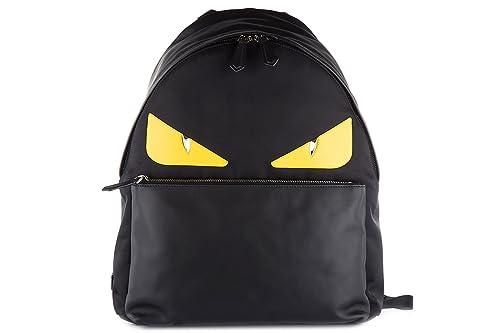 d1a97d2f4c8f Fendi men s rucksack backpack travel stondato calfskin century occhi black   Amazon.ca  Shoes   Handbags