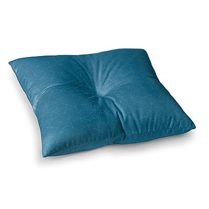 Kess InHouse Amy Reber White Palm Green Pattern 26 Round Floor Pillow
