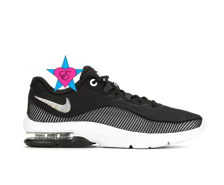 b5d1f9c6ee237 Amazon.com: Custom Clear Crystal Sneakers Bling NIKE WOMENS AIR MAX ...