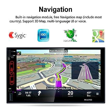 RK-A705 7 pulgadas HD para Android 6.0 reproductor integrado GPS FM coche DVD máquina