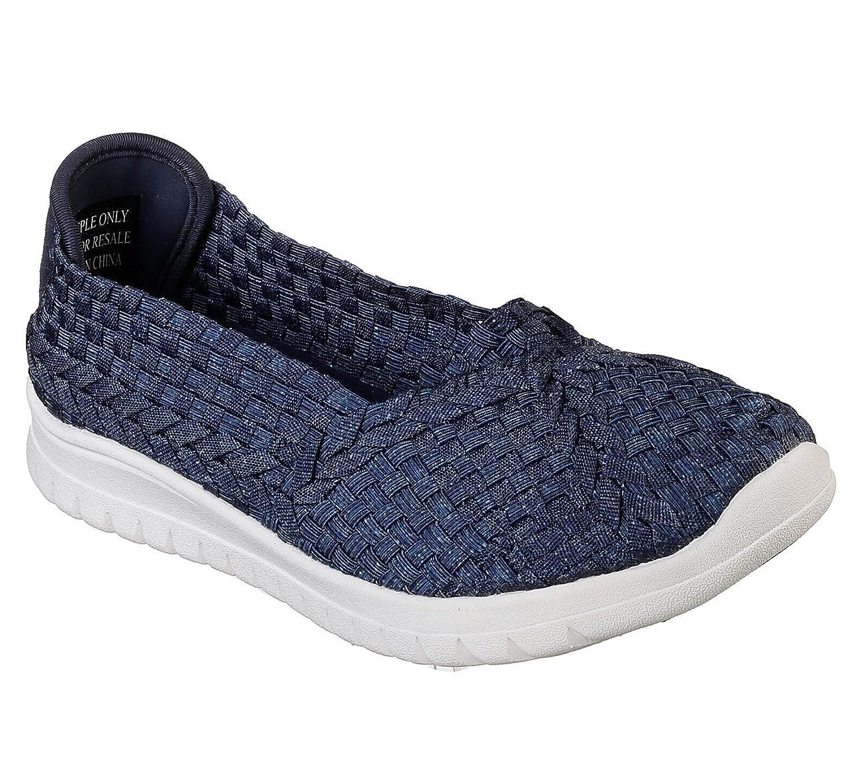 Skechers BOBS Pureflex 3 Denim Frenzy Womens Slip On Flats B07DNLW536 Parent