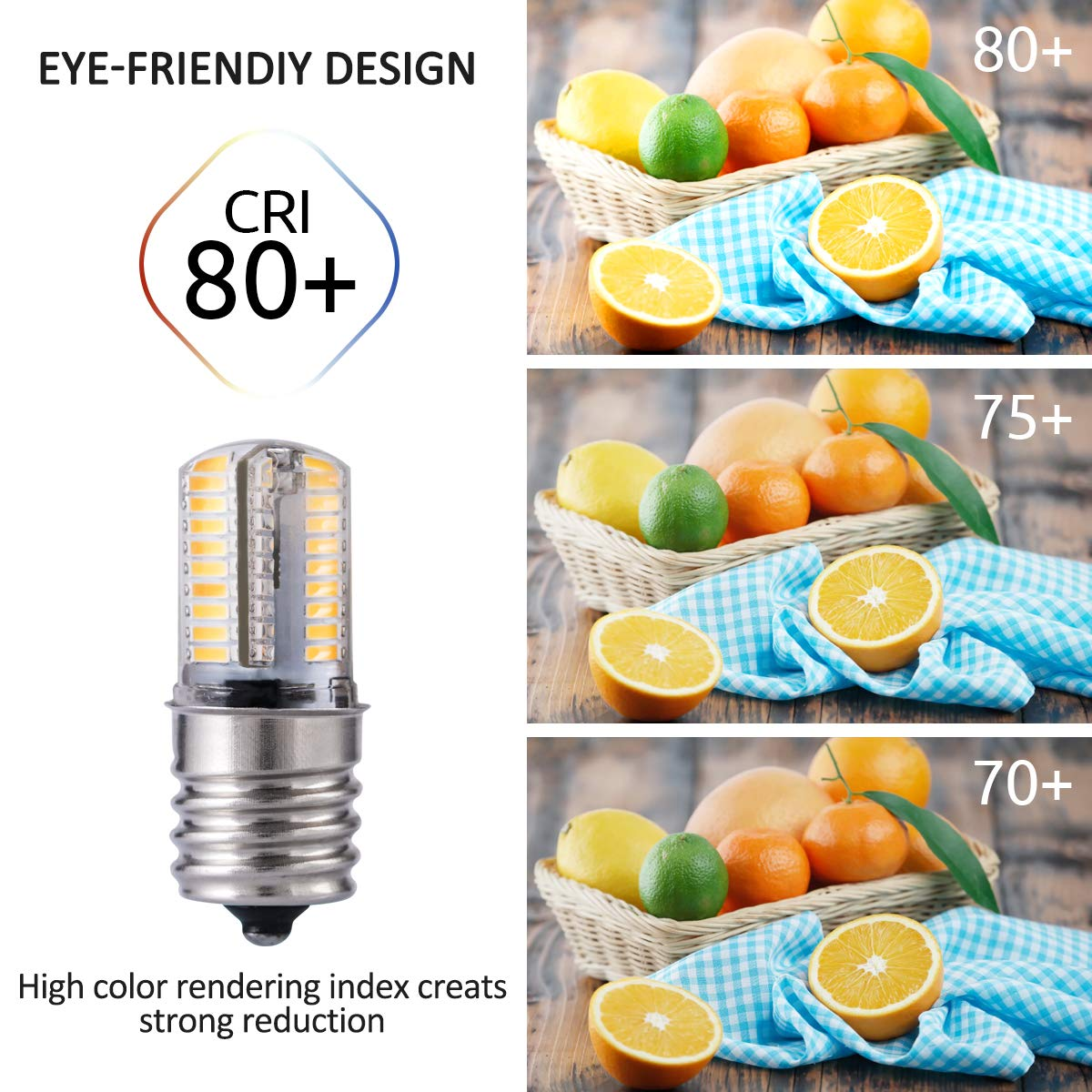 30W Halogen Bulbs 2 Pack 260LM Warm White Light 3000K Over Counter Ceiling Fan LED Bulbs GAWAR E17 Base LED Light Bulbs for Microwave Oven Appliance Dimmable 3W