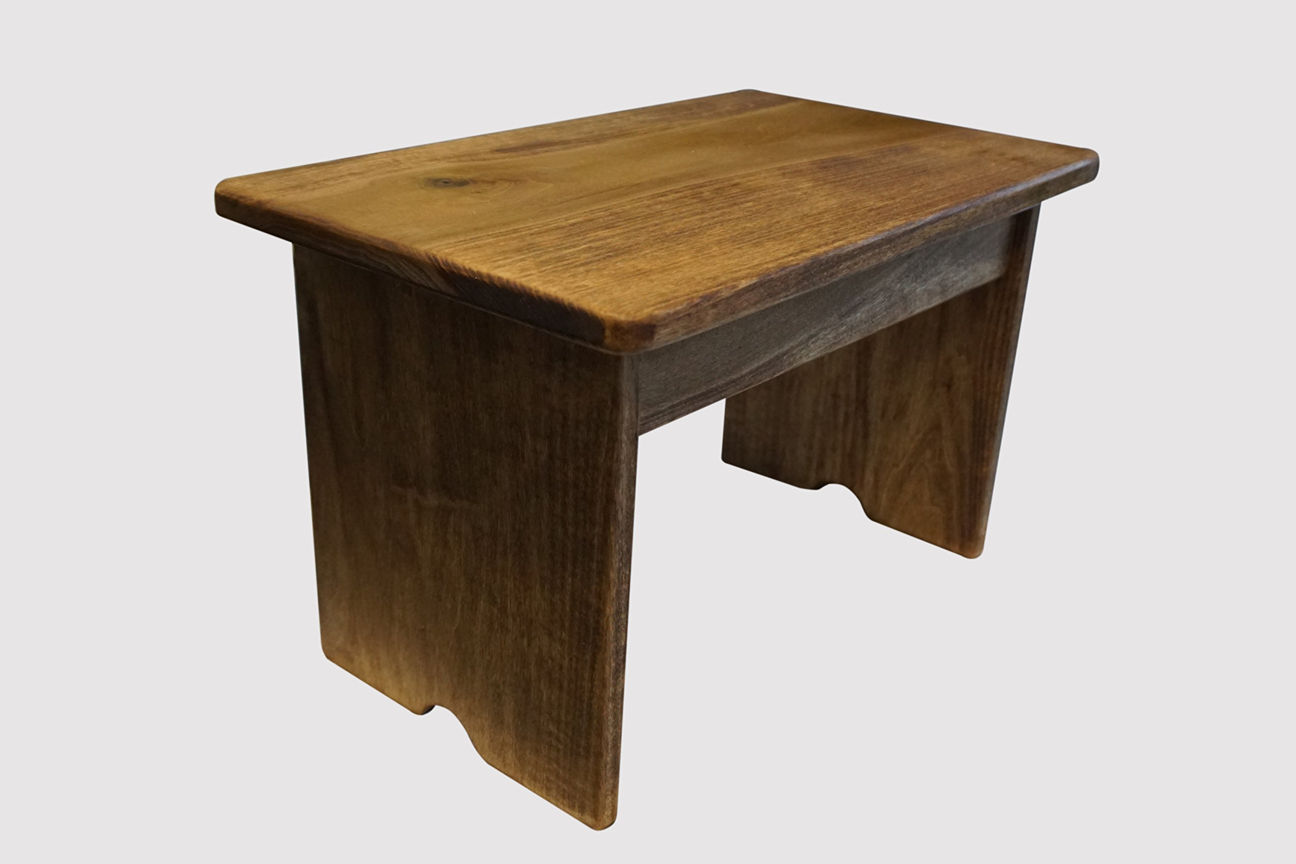 Step Stool Poplar Wood Maple Stain (Made in the USA)