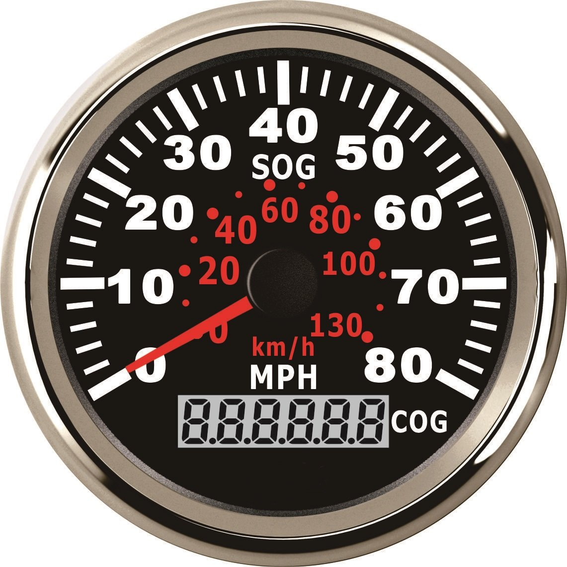 ELING Waterproof GPS Speedometer 0-80MPH Speed Gauge with Course for Marine with Backlight 3-3/8'' (85mm) 9-32V by ELING