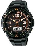 [シチズン キューアンドキュー]CITIZEN Q&Q 電波ソーラー腕時計 SOLARMATE (ソーラーメイト) アナログ表示 クロノグラフ機能付き 10気圧防水 ウレタンバンド オレンジ×ブラック MD06-315 メンズ