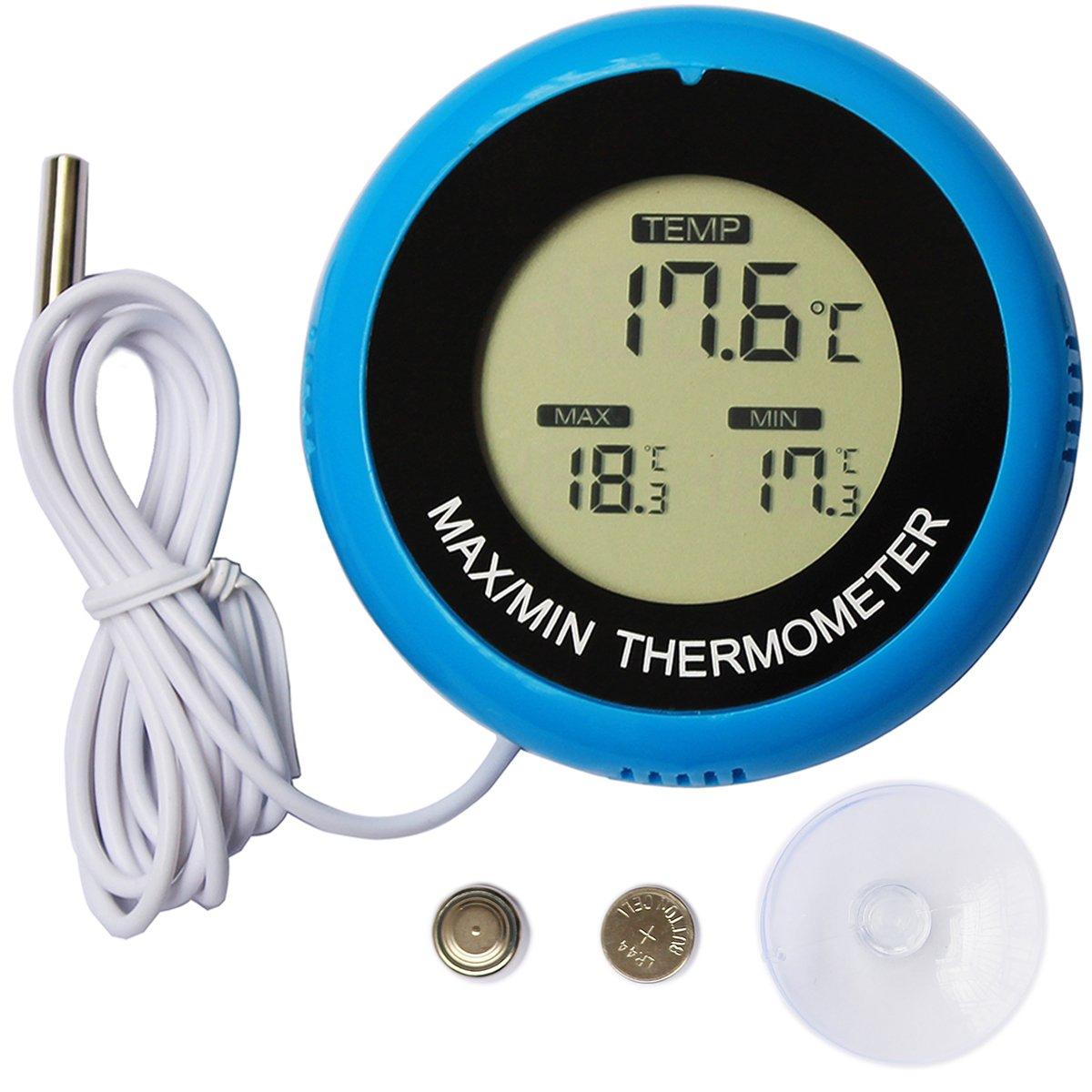 Colori Digital Aquarium Thermometer Fish Tank Water Terrarium Reptile Thermometers Marine Temperature
