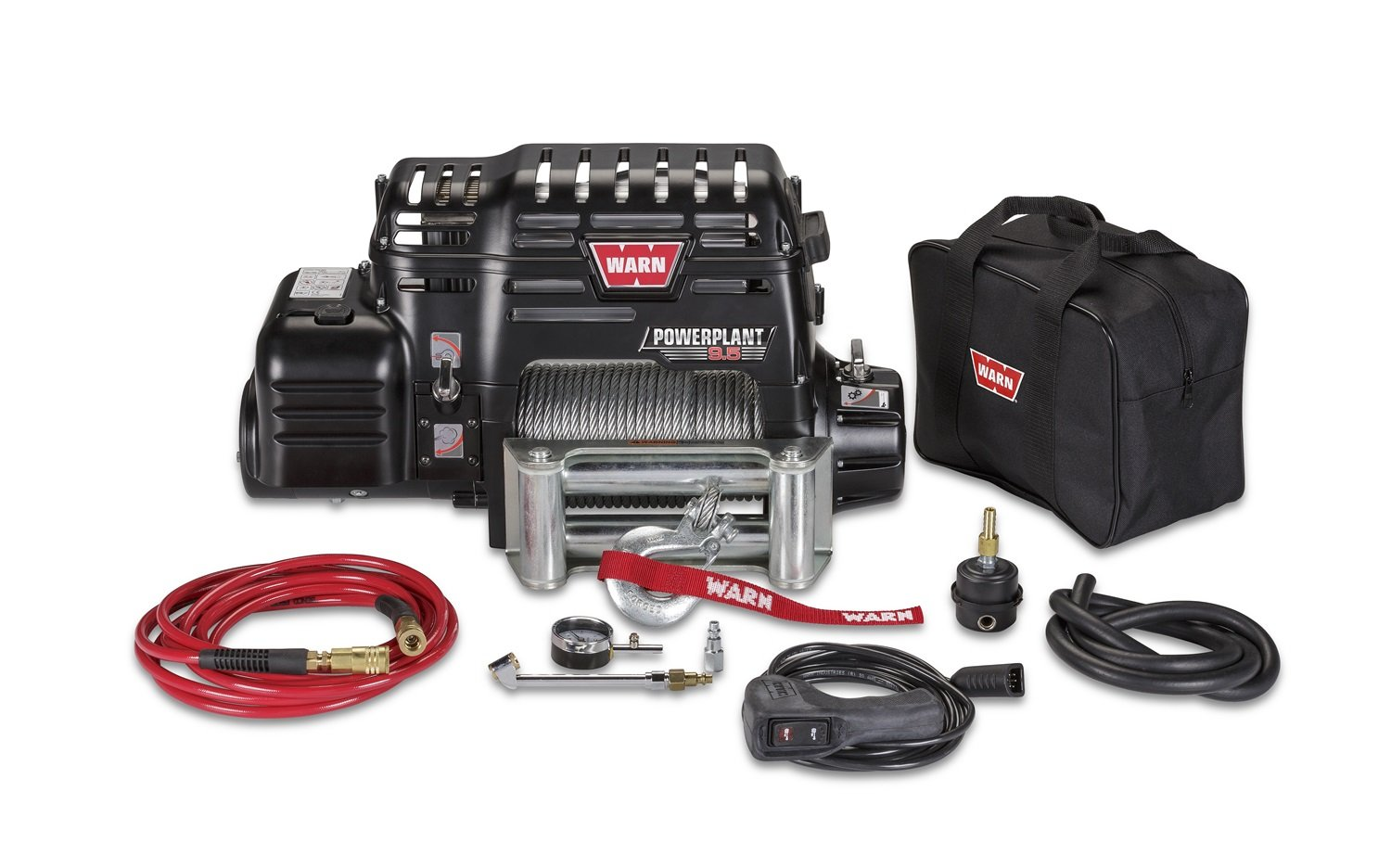 amazon com warn 91800 powerplant 9 5 air compressor and winch amazon com warn 91800 powerplant 9 5 air compressor and winch automotive