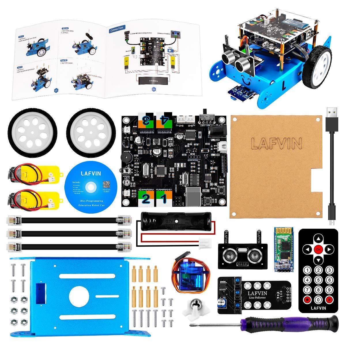 Robot Educativo para armar y programar en Arduino LAFVIN