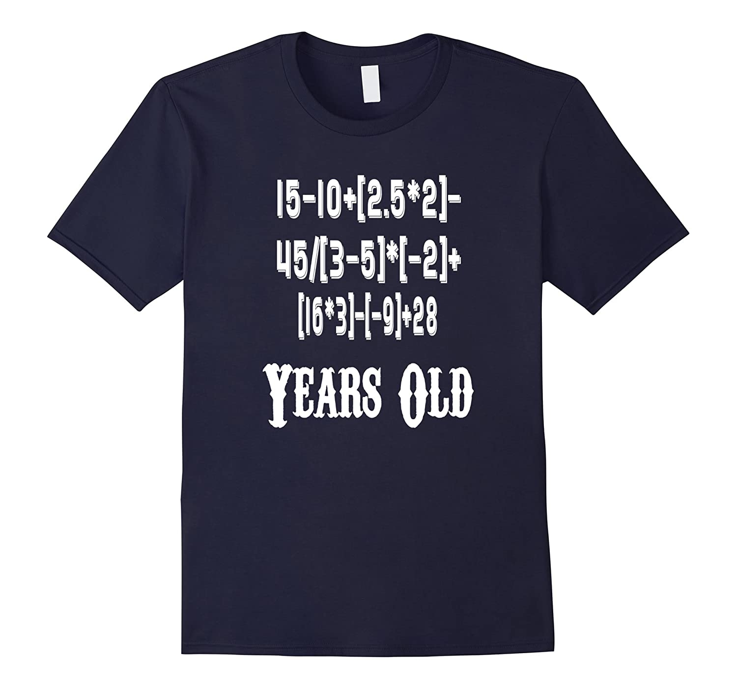50 Years Old Algebra Equation Funny 50th Birthday Math Shirt-BN